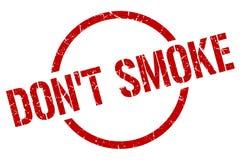 ponga \ 'sello del humo de t stock de ilustración