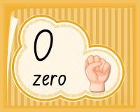 Ponga a cero con gesto de mano stock de ilustración
