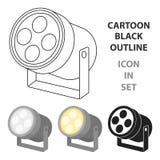 Ponga de relieve el icono en estilo de la historieta aislado en el fondo blanco Ejemplo del vector de la acción del símbolo del t libre illustration