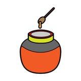 Ponga el icono de la miel Imagen de archivo