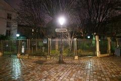 Ponga el lugar de las abadesas o de las abadesas del DES en Montmartre Imágenes de archivo libres de regalías