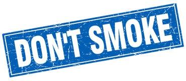 ponga el sello cuadrado azul del grunge del humo del ` t libre illustration
