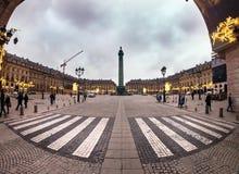 Ponga el vendome en París, Francia Imagen de archivo