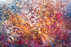 Ponga en contraste la pintura en diversos colores claros para el diseño foto de archivo libre de regalías