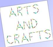 Ponga letras a las tijeras de un arte Foto de archivo libre de regalías