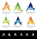 Ponga letras a Logo Designs Fotografía de archivo libre de regalías