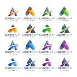 Ponga letras a un sistema del logotipo listo para utilizar stock de ilustración