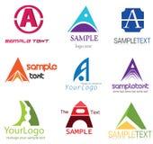 Ponga letras a una insignia stock de ilustración