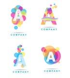 Ponga letras a una insignia Imágenes de archivo libres de regalías