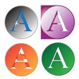 Ponga letras a una insignia libre illustration