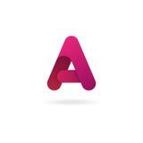 Ponga letras a una insignia Plantilla del diseño del icono del vector Imagen de archivo