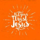 Ponga su confianza en Jesús deletreado libre illustration