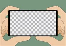 Ponga su texto o imagen detrás del teléfono móvil ilustración del vector