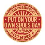 Ponga sus propios zapatos día, el 6 de diciembre ilustración del vector
