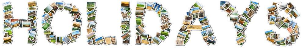 Días de fiesta del título en un fondo blanco foto de archivo libre de regalías