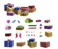 Ponga un árbol de navidad Imágenes de archivo libres de regalías