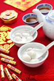 Ponga una espiga al yuan, yuan xian, comida china del Año Nuevo
