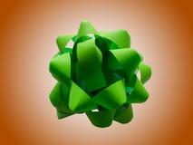 Ponga verde el arqueamiento del abrigo de regalo Fotografía de archivo