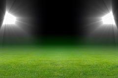 Ponga verde el campo de fútbol Fotografía de archivo