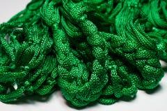 Ponga verde el carrete de la cuerda de rosca Imagen de archivo