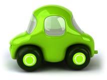 Ponga verde el coche stock de ilustración