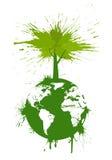 Ponga verde el concepto ilustración del vector