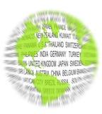 Ponga verde el concepto del mundo Fotografía de archivo