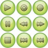 Ponga verde el conjunto del icono Foto de archivo libre de regalías