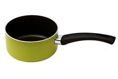 Ponga verde el cookware fotografía de archivo