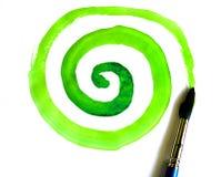 Ponga verde el círculo Fotos de archivo