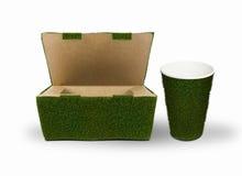 Ponga verde el empaquetado Fotografía de archivo libre de regalías