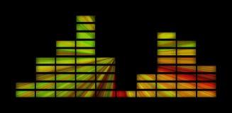 Ponga verde el equalizador amarillo y rojo Fotos de archivo libres de regalías