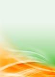 Ponga verde el flujo abstracto anaranjado Fotos de archivo