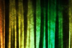 Ponga verde el fondo abstracto inspirado música amarilla de DJ stock de ilustración