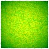 Ponga verde el fondo de Paisley del vintage ilustración del vector