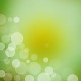 Ponga verde el fondo ligero abstracto del bokeh Foto de archivo libre de regalías