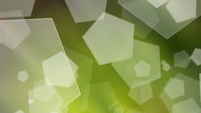 Ponga verde el fondo ligero abstracto del bokeh Imagen de archivo
