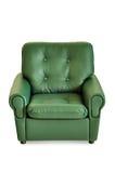 Ponga verde el frente de cuero de la butaca Imagenes de archivo