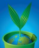 Ponga verde el germen del mundo ilustración del vector