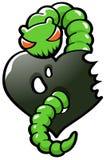 Ponga verde el gusano de la envidia Imagen de archivo libre de regalías