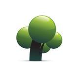 Ponga verde el icono del árbol stock de ilustración