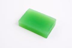 Ponga verde el jabón orgánico Fotos de archivo