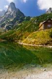 Ponga verde el lago en las montañas de Tatra Foto de archivo libre de regalías