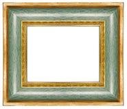 Ponga verde el marco dorado Fotos de archivo libres de regalías