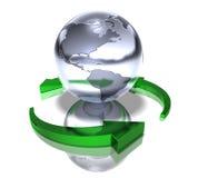 Ponga verde el mundo ilustración del vector