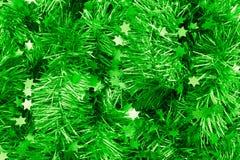 Ponga verde el oropel Fotos de archivo libres de regalías