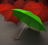 Ponga verde el paraguas libre illustration