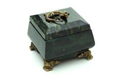 Ponga verde el pequeño rectángulo de la roca Imágenes de archivo libres de regalías