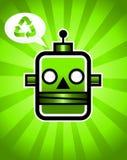 Ponga verde el reciclaje de la robusteza retra stock de ilustración