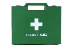 Ponga verde el rectángulo del kit de primeros auxilios Foto de archivo libre de regalías